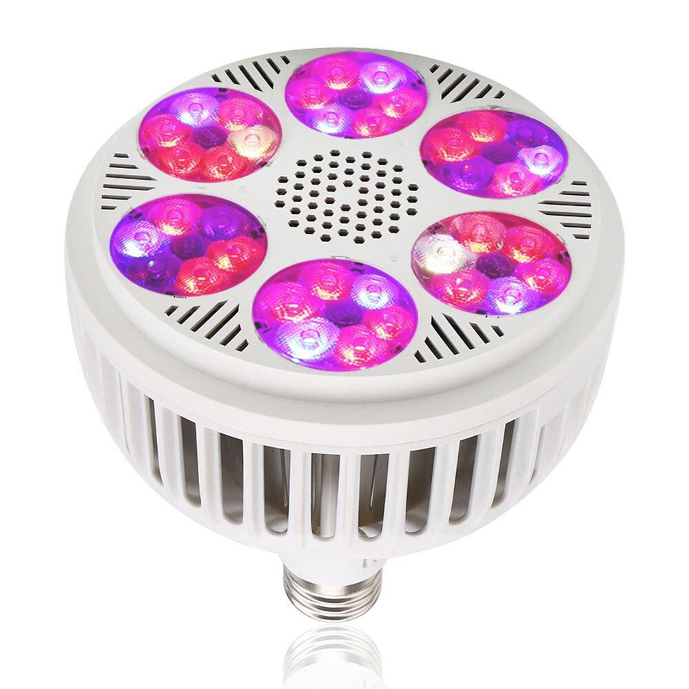 Más nuevo 120 W lámpara creciente espectro completo AC85 265 V E27 alta potencia LED crece ligero para hidropónico de interior verduras y la floración