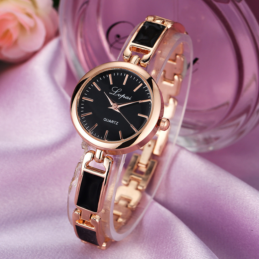 Ladies Elegant Wrist Watch Women Stainless Steel Rhinestone Bracelet Analog Quartz Watch Women's Crystal Small Dial Watch Reloj