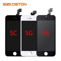 10PCS LOT AAA Quality LCD Screen Display Digitizer Assembly For IPhone 5 LCD Display Black