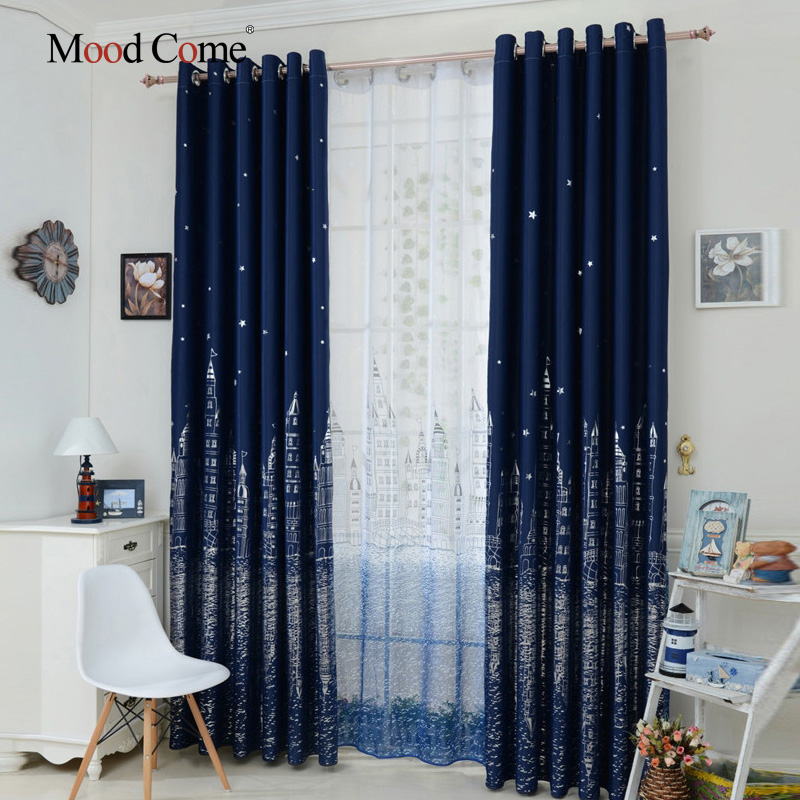 Good Castle Curtains Design 100% Polyester Modern Window Curtain Living Room Curtains  Drapes Blackout Curtains For