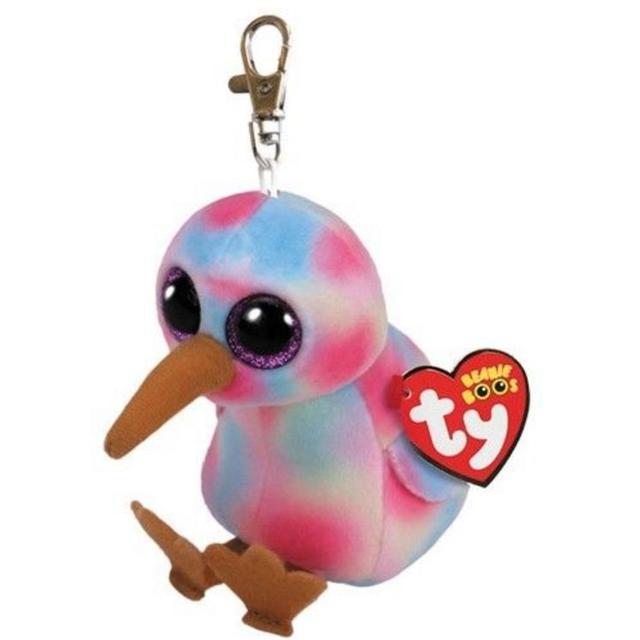 5a40488d66e 2018 New TY Beanie Babies Kiwi Multicoloured the Bird Keychain Clip Cinder  Pendant Plush Toys Gifts