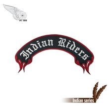 Indian motorcycle biker rocker patch punk embroidery iron on patches for jacket custom your text