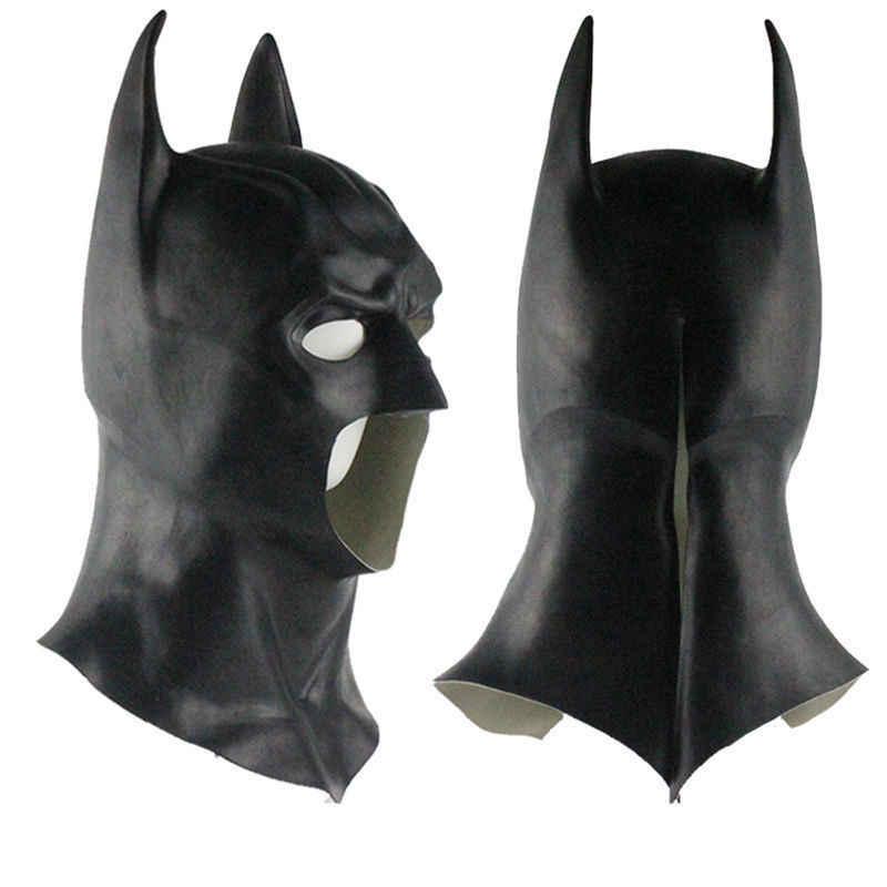 Маски Бэтмена полная голова Бэтмен против маска супермэна Темный рыцарь латексная маска для косплея Бэтмен маска на Хэллоуин вечеринку