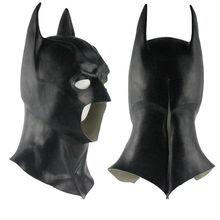 Batmanหน้ากากเต็มรูปแบบหน้ากากSuperman Dark Knight Latexหน้ากากคอสเพลย์Batmanหน้ากากฮาโลวีนParty