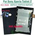 100% Bom Teste Display LCD Completa Com Digitador Da Tela de Toque Para sony para xperia tablet z 10.1 sgp311 sgp312 sgp321 frete grátis