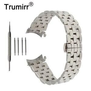 Image 1 - 18mm 20mm 22mm 24mm banda de relógio aço inoxidável curvo fim cinta + ferramenta para orient pulseira borboleta fivela pulso cinto pulseira