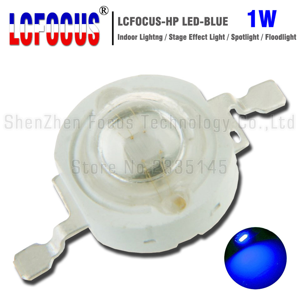 100pcs 3W 3Watt Blue 460-465nm 700mA 3.2-3.6V LED High Power lamp