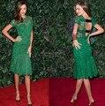 Top Fashion Oscar Carpet Short Sleeve Backless Short Celebrity Dreses