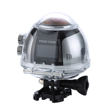 2017 Pro 1 шт. 360 Мини Wi-Fi панорамный видео VR Камера 4 К 16MP фото 3D Спорт DV DVR для Открытый Спорт