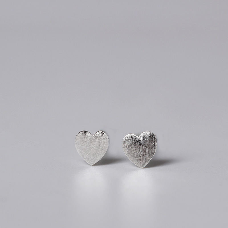 fd306a6c9 LouLeur 100% 925 sterling silver heart geometric stud earrings silver  square plum blossom triangle round ...