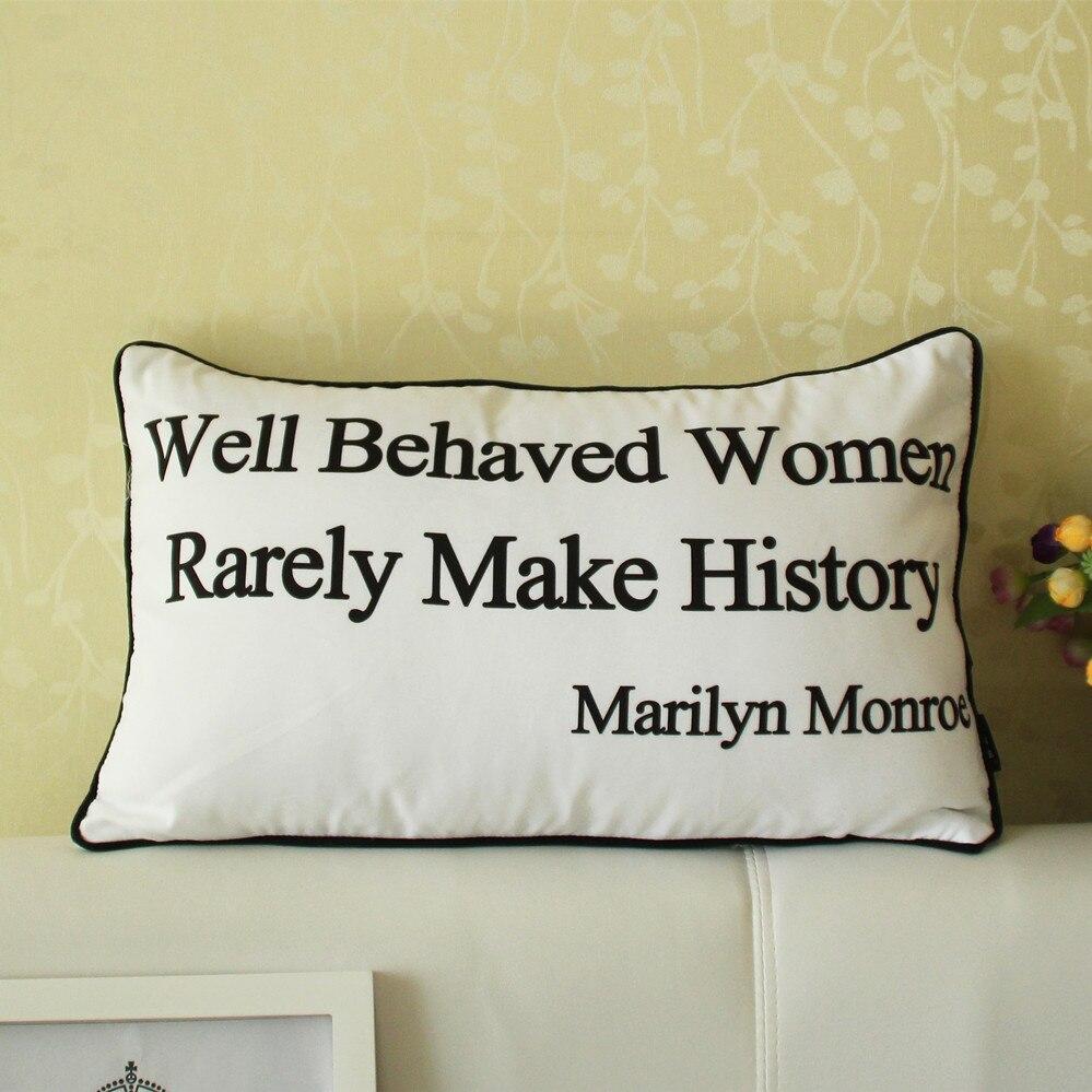 2 styles marilyn monroe mot canapé coussin couvre femmes bien
