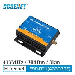 Ethernet Modbus 433MHz 30dBm 1W Long Range Wireless Transceiver E90-DTU-433C30E IoT PLC 3000m Distance 433 MHz RJ45 rf Module