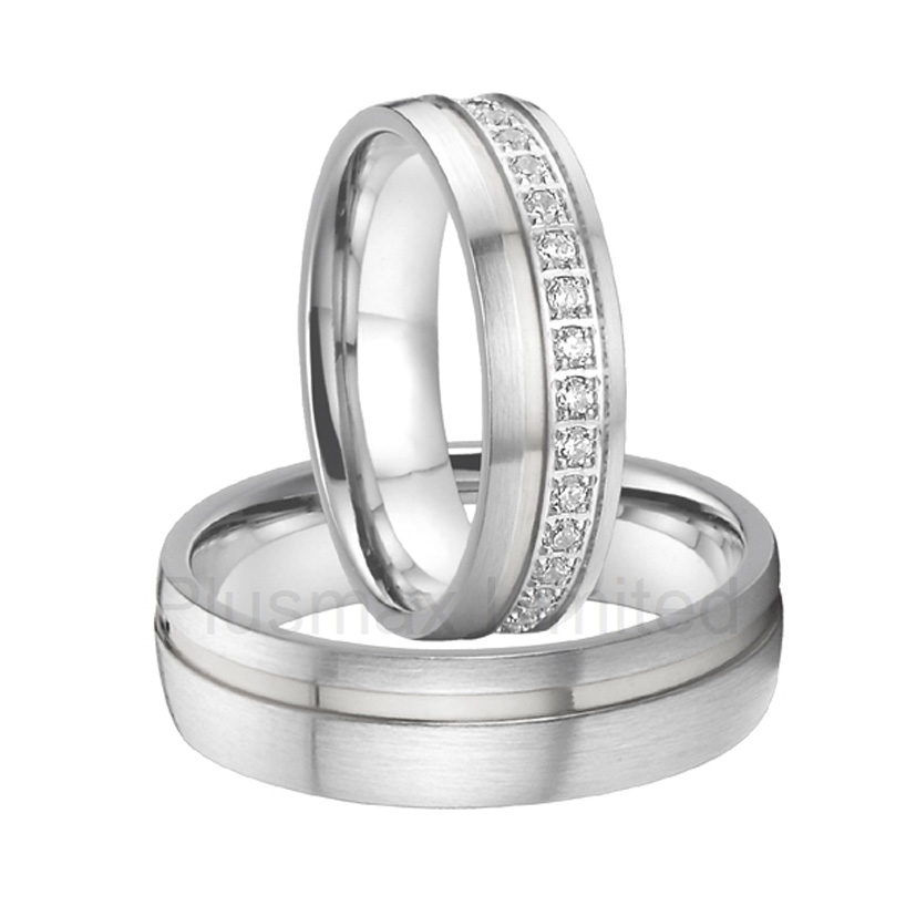 anel alliance China titanium steel band Manufacturer for custom cz jewelry wedding rings