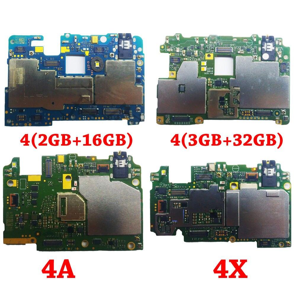 Ymitn Mobile Électronique panneau carte mère Carte Mère débloqué avec puces Circuits flex Câble Pour Xiaomi RedMi hongmi 4 4A 4X
