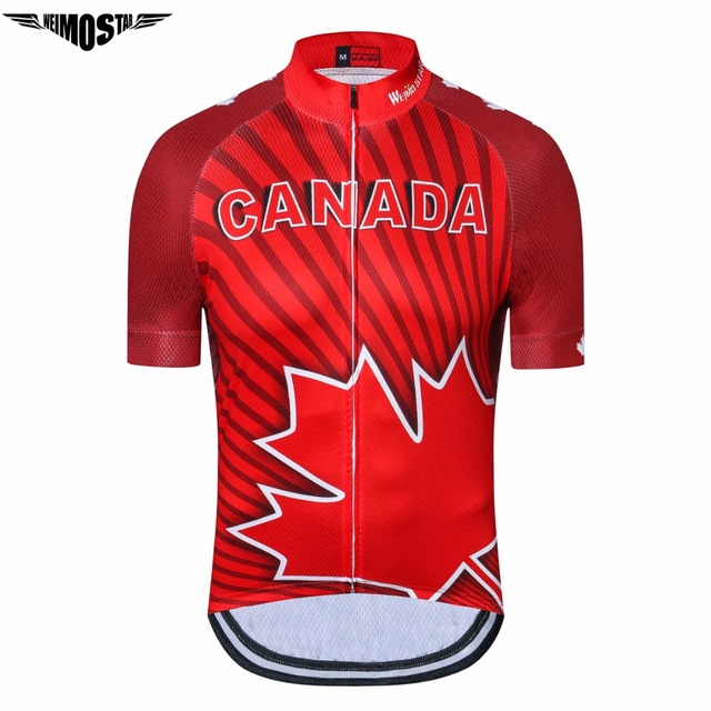 30a740766d581 Weimostar Bike Jersey Ropa Ciclismo Bicycle Shirt Clothing Wear mtb Sport  Canada Cycling Jersey Riding quick Dry Red Sportswear