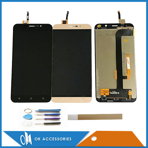Black White Gold Color 5.5 Inch For Cubot Dinosaur LCD Display With Touch Screen Digitizer Assembly With Tools Tape