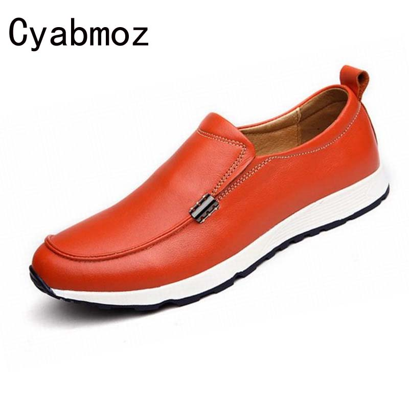 Hot Genuine Leather Men Shoes Plus Size Men Flats Shoes Slip-on Loafers Fashion Moccasins Handmade Driving Shoes Zapatos Hombre klywoo plus size 38 46 men loafers leather shoes fashion mens casual driving boat shoes slip on handmade new shoes men moccasins
