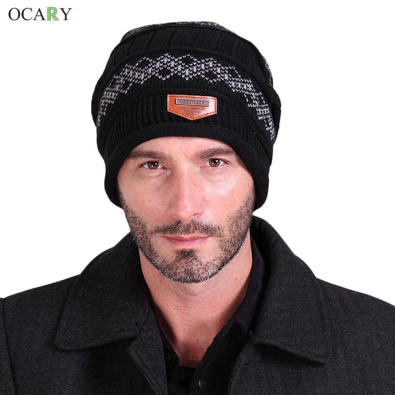 Winter Hats For Man Winter Beanie Knitted Men Beanies Hip-Hop Hat Warm Skullies Snow Caps Casual Headwear Sport Gorros Invierno winter hat casual unsex knitted hats for men baggy beanie hat crochet slouchy oversized caps warm skullies toucas gorros
