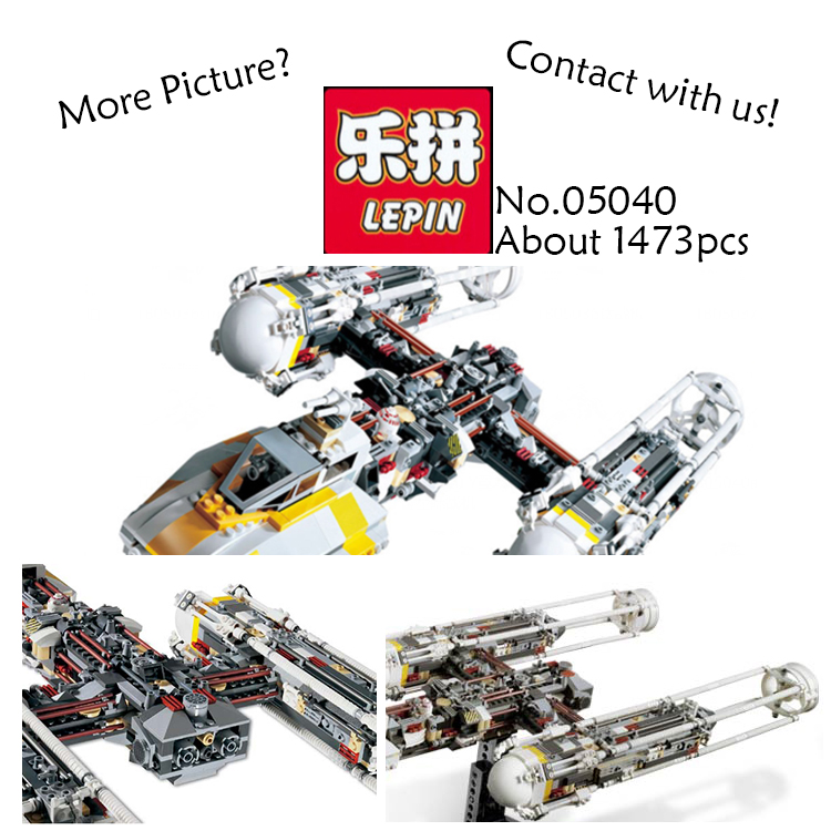 Clone 10134 MOC LEPIN 05040 1473Pcs Star Wars Y-wing Attack Starfighter Model Building Kits Blocks Bricks Toys for children Gift lepin 05040 star wars y wing attack starfighter model building kits blocks brick toys compatiable with lego kid gift set