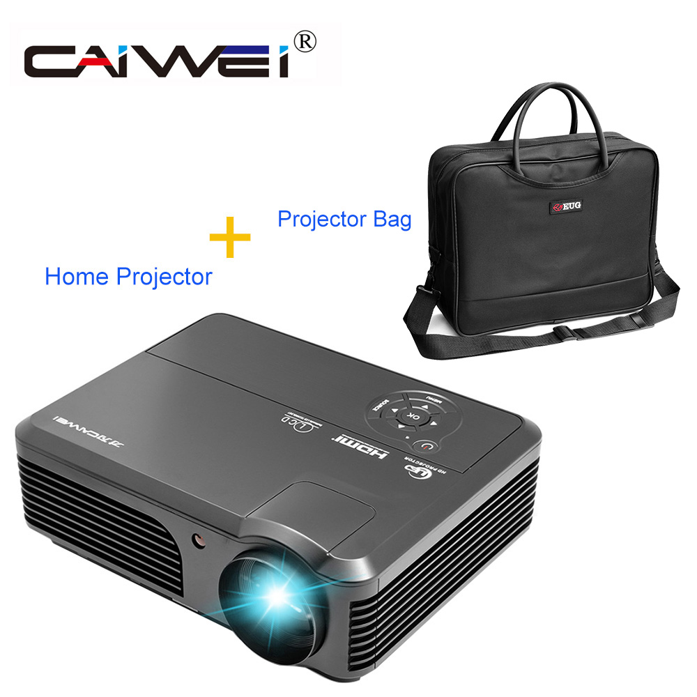 CAIWEI Home Theater Use 4200 Lumens LCD Projector Family Private Cinema Movie TV Beamer Support 1080p HD Full Video Projector цены