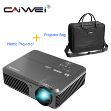 CAIWEI Home Theater Use 4200 Lumens LCD Projector Family Private Cinema Movie TV Beamer Support 1080p HD Full Video Projector