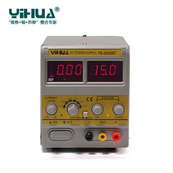 YIHUA 1502DD + móvil Phone15V 2A de alimentación de CC regulada ajustable con pantalla LED