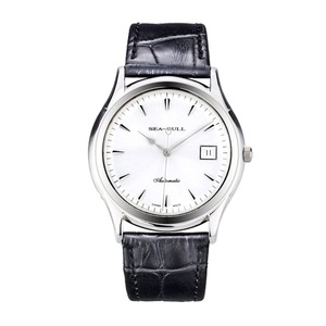 Image 2 - Seagull Ultra Thin 9mm Thick Classic 3 Hands Self winding ST1812 Movement Auto Date Automatic Mens Dress Watch 819.332
