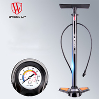 Bicycle Pump Portable Cycling Air Pump Inflator High Pressure MTB Mountain Bike Multi functional Pumps With Gauge 170PSI