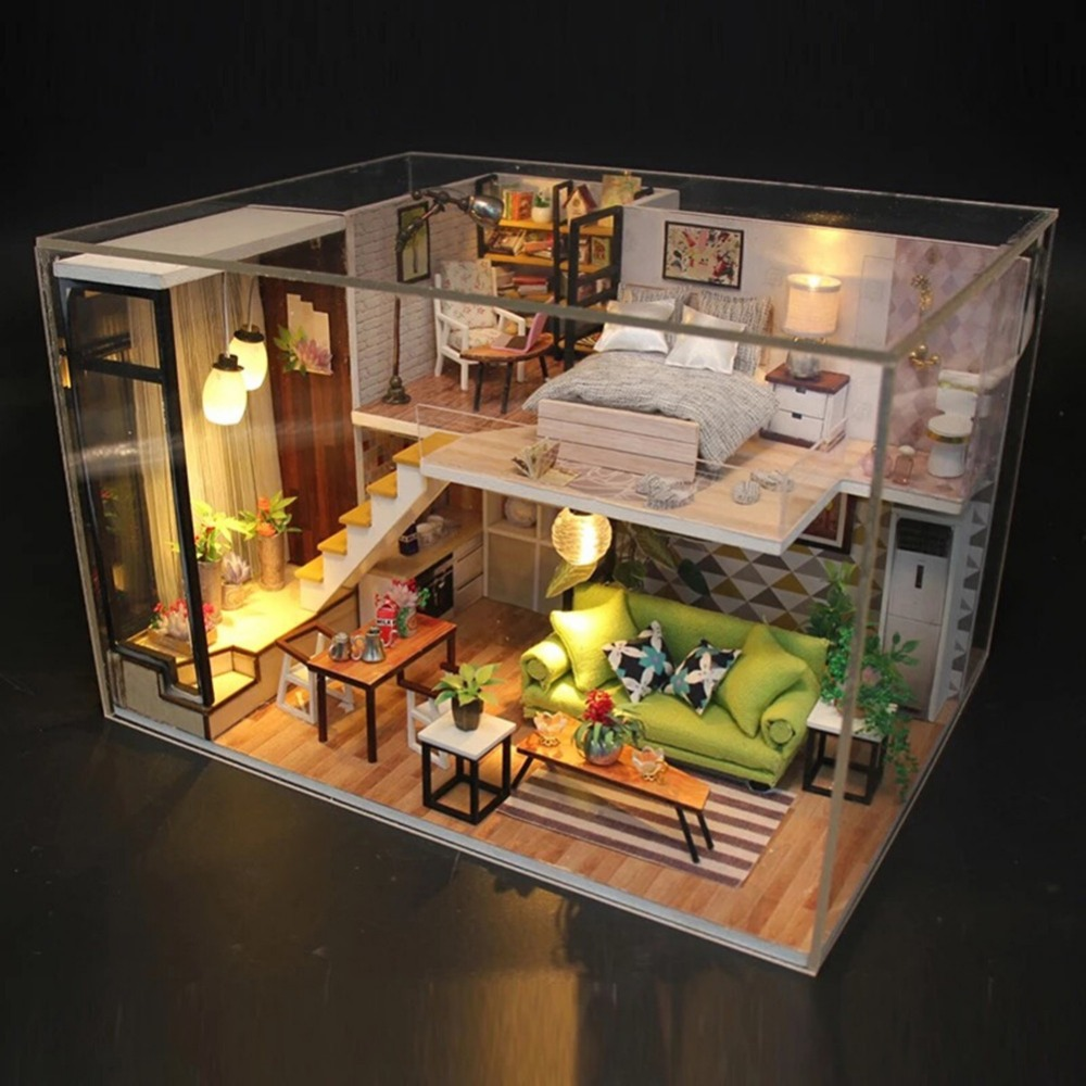 DIY Doll House Forever & Always Valentine's Day Luxurious 3 Layers Cottage Without Dust-proof Cover