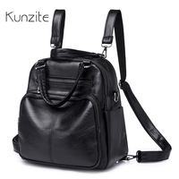 2018 Women Backpack High Quality PU Leather Daily Bagpack Leisure Multifunction Backpack For Teenager Girls Female
