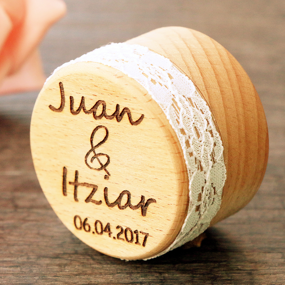 Personalized gift rustic wedding ring bearer box laser for Just my style personalized jewelry studio