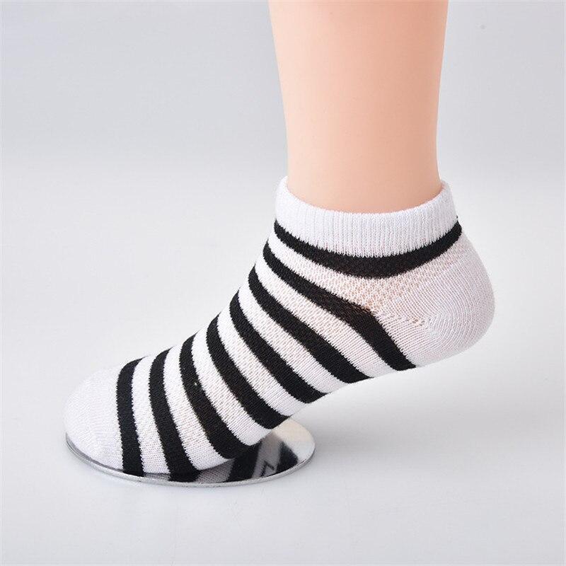 5 Pair=10PCS/lot Baby Socks Neonatal Spring Summer Mesh Cotton Plain Stripes Kids Girls Boys Children Socks For 4-12 Year 3