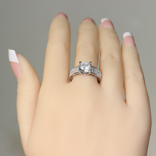 Queen Brilliance Wide Band 2 Carat NSCD/SONA SIMULATED Diamond ...