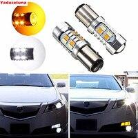 Par 20-SMD Color Dual 1157 7528 2357 BAY15D LED Switchback Blanco/Ámbar 5730-Chip Bombillas Para Luces de Señal de Vuelta de Estacionamiento
