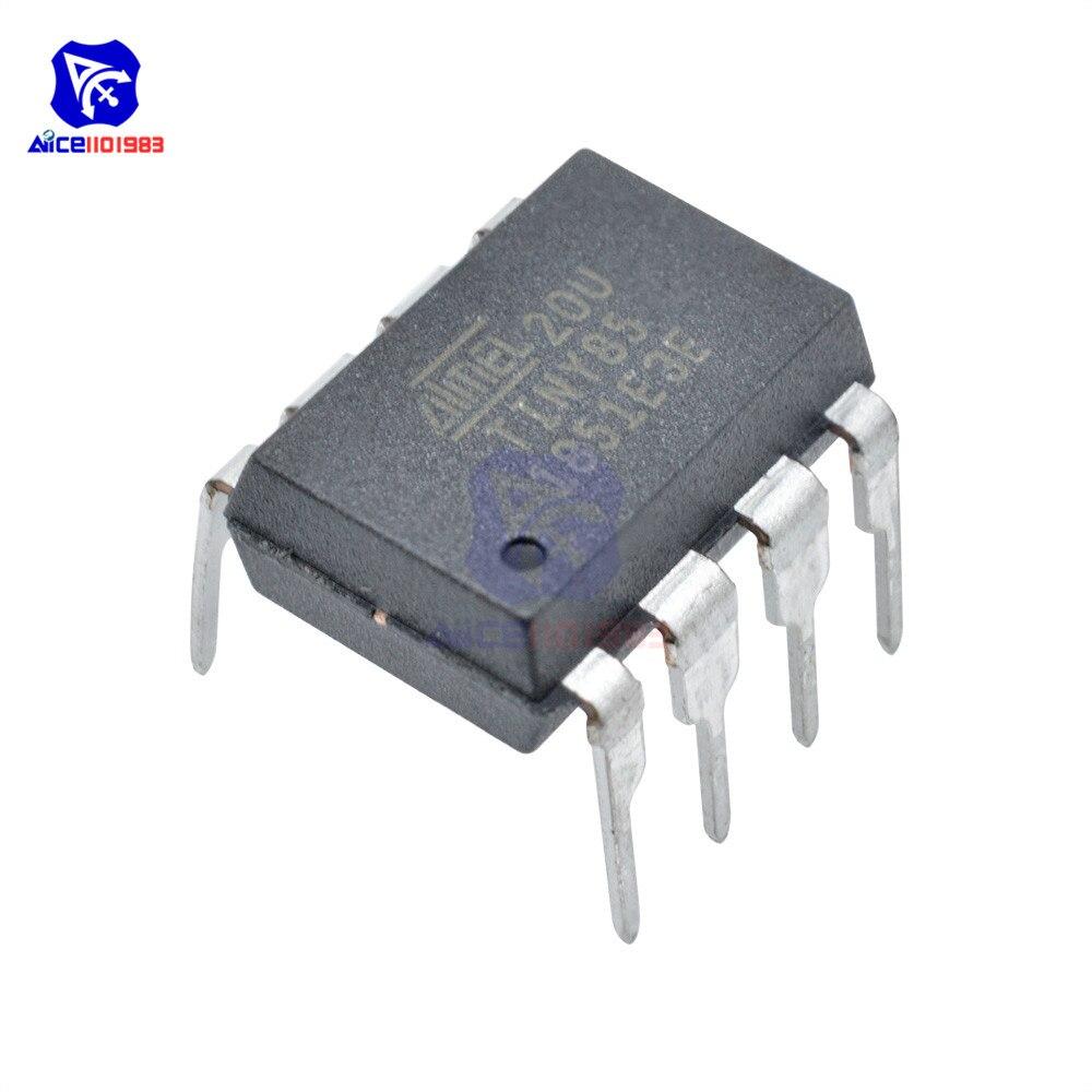 1 PC IC Chip ATTINY85-20PU ATTINY85 MCU 8BIT ATTINY 20MHZ 8 Pin DIP-8 ATTINY85 Microcontroller IC Chips