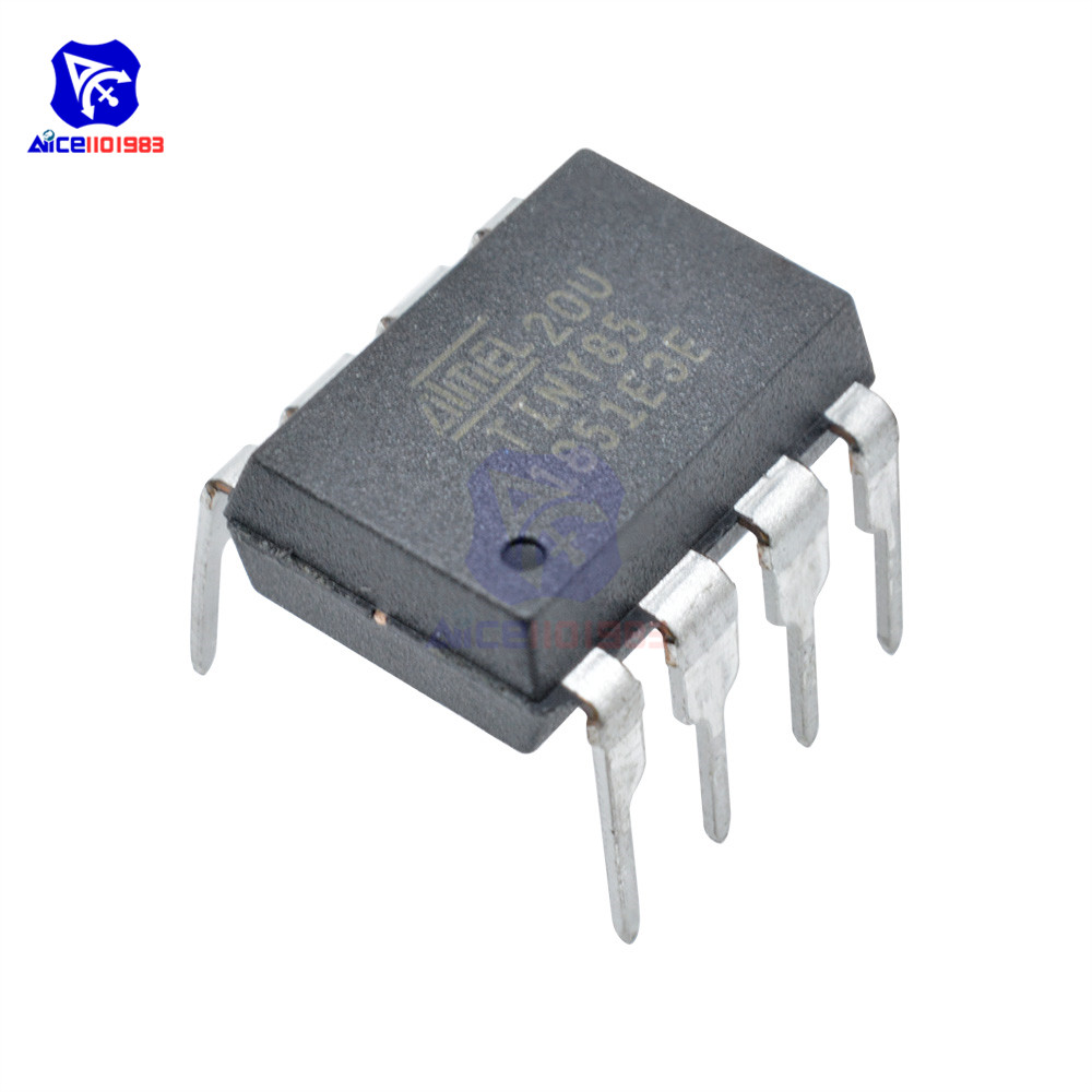 1 PC IC Chip ATTINY85-20PU ATTINY85 MCU 8BIT ATTINY 20MHZ 8 Pin DIP-8 ATTINY85 Microcontroller IC Chips