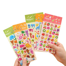 SLPF Children Cartoon Anime 3D Stereo Stickers Kindergarten Rewards Self-adhesive Paper Mobile Phone Diary Decoration Toys H02