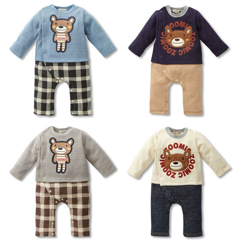 Infant Kids Autumn Winter Baby Fashion Style Baby Boy Clothes Suit Baby Girl Clothes Soft Comfortable T-shirt Pants Jumpsuit Set baby girl clothes baby winter suit spring and autumn warm baby boy clothes newborn fashion cotton clothes two sets of underwear