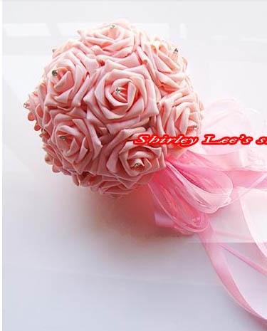 Novo !!! 8 X vrtnice iz čudovite pene iz diamante neveste cvetlični - Prazniki in zabave - Fotografija 4