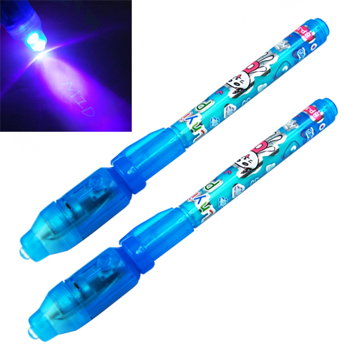 SOSW-2X UV Invisible Security Marker Permanent Pen & Built in Ultra Violet LED Light