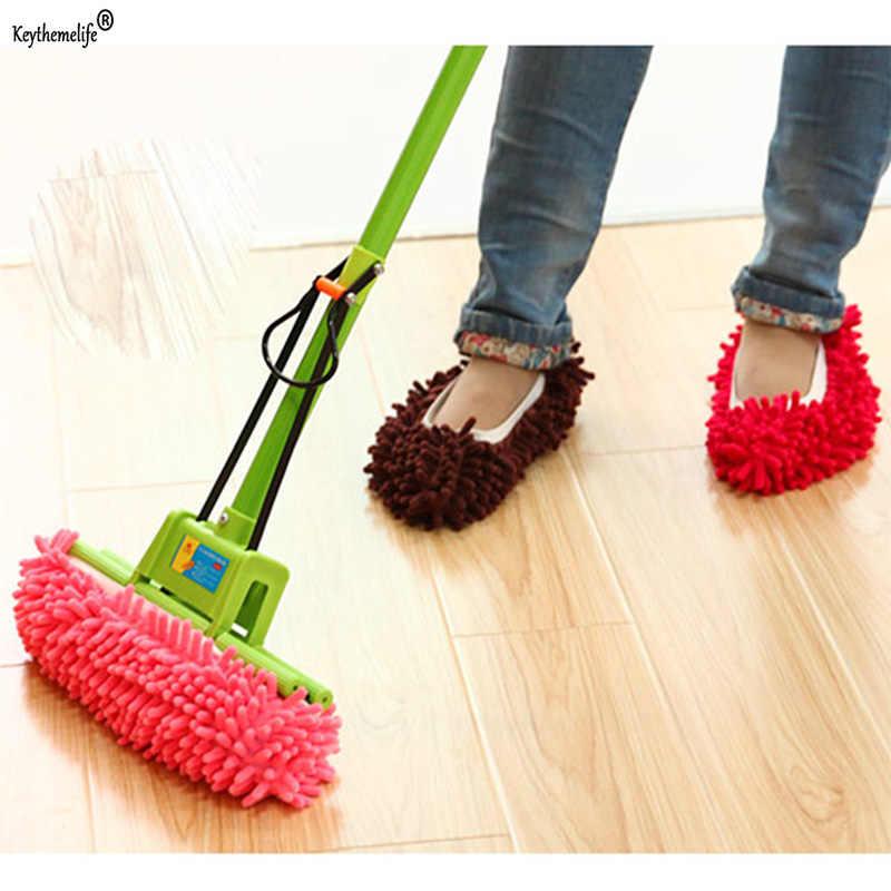 1 個クリーニング足クリーナー靴モップスリッパ床スティングカバー便利な実用ホームアクセサリークリーニングツール
