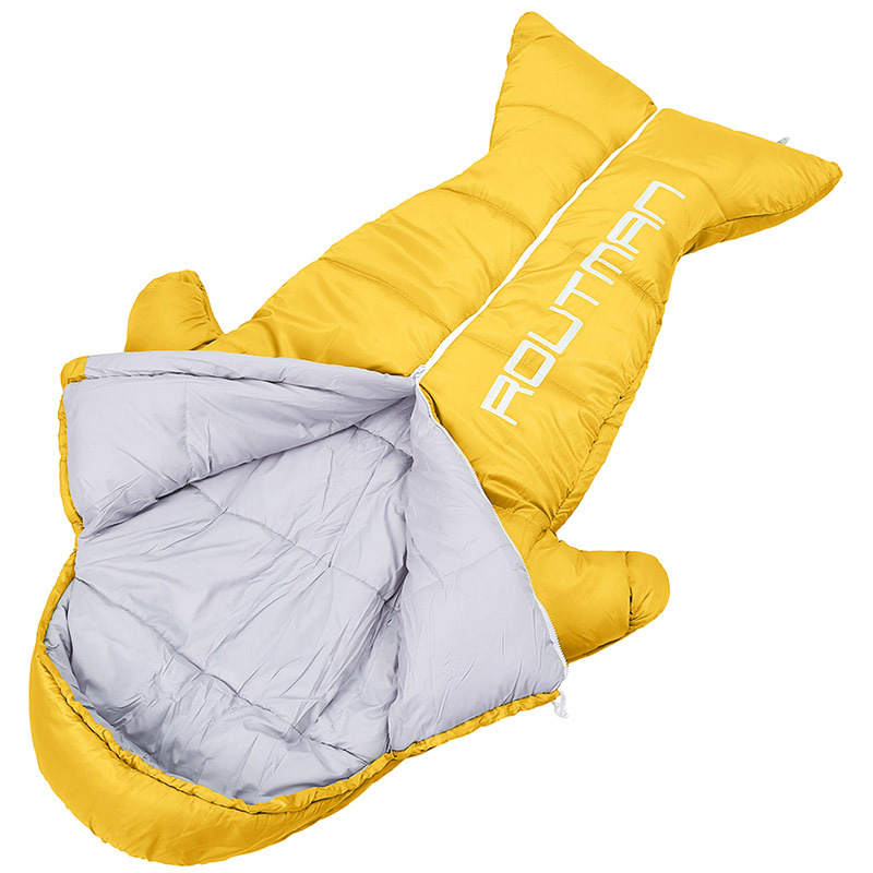 GYKZ Penguin Shape Children Keep Warm Sleeping Bag Outdoor Camping Mummy Lazy Bag For Kids Spring Summer Cute Sleeping Bag HY241