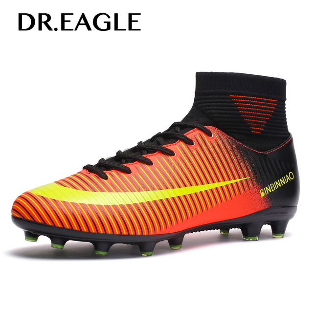 b16746253 Men Soccer Shoes Long Spikes Lawn Trainers Cleat Centipede Football Boots  Man Soccer Artificial Grass Men Sneakers Teenagers