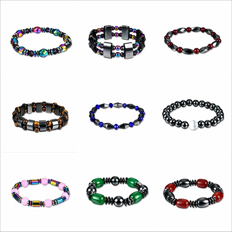 1Pcs Multicolor Magnetic Bracelet Beads Hematite Stone for ...
