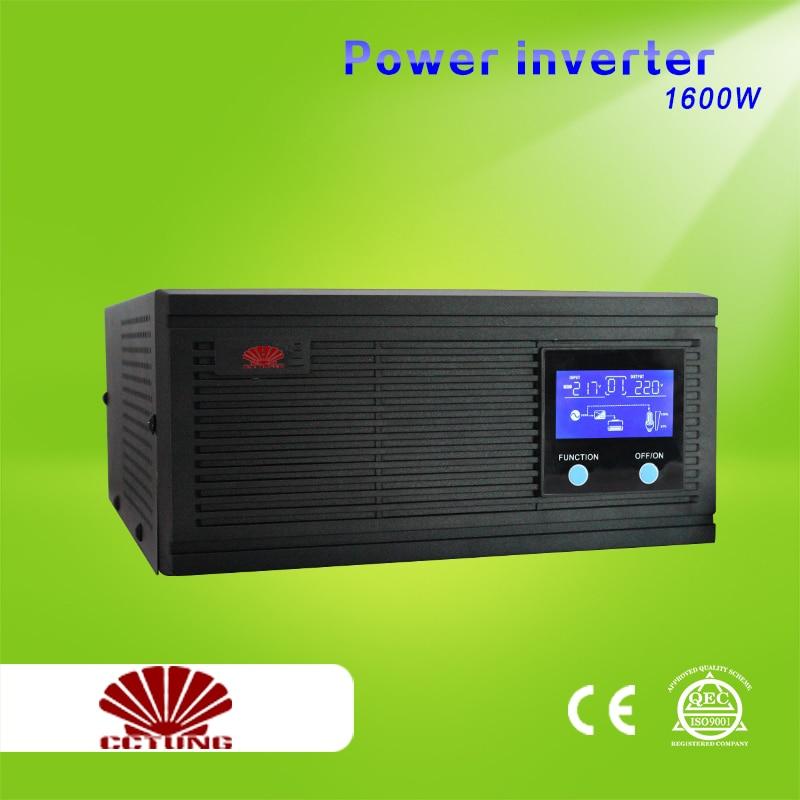 2000VA 1600W Power Inverter Home Inverter System 85-275VAC Input 110V 220V 230V 240VAC Pure Sin Wave Output With 12V 24V Battery