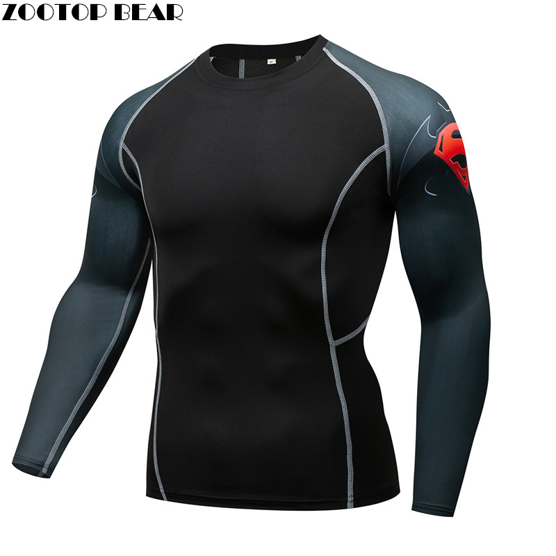 MMA Compression Armor T-shirt Men quick dry Elastic Base Layer Skin Tight Weight Lifting Crossfit Top Tee Rash guard Fitness