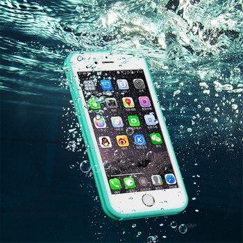 Étui pour iPhone X 6 s 360 degrés en Silicone souple de luxe vraiment étanche pour iPhone sur 5 5 s 6 s 7 8 Plus coques de téléphone