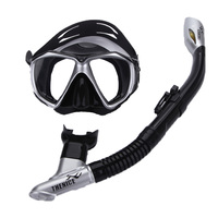 YAHEY Full Dry Anti Fog Compatible Diving Mask With Breathing Tube THENICE Half Face Swimming Snorkel Equipment For Underwater