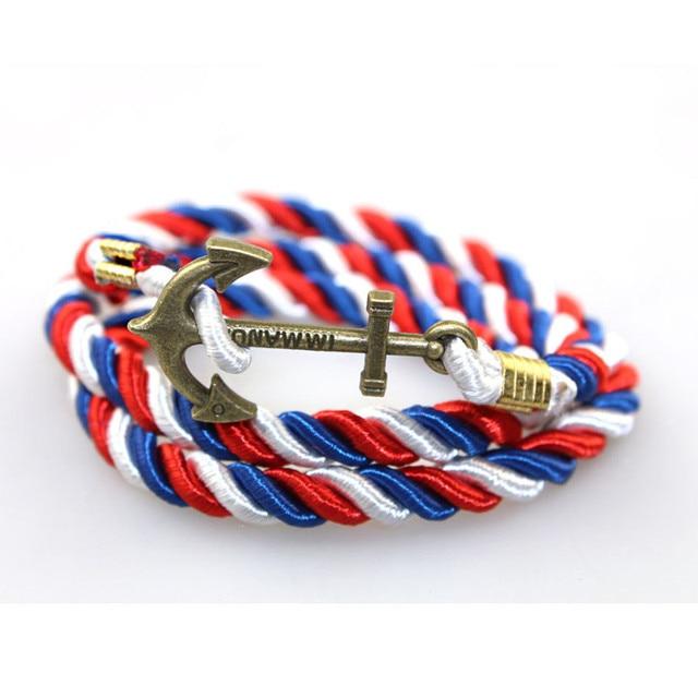 Paracord Bracelet 2017 Homme Snaps Jewelry Wrap Handmade Braided 55cm Diy Anchor Men Bracelets For