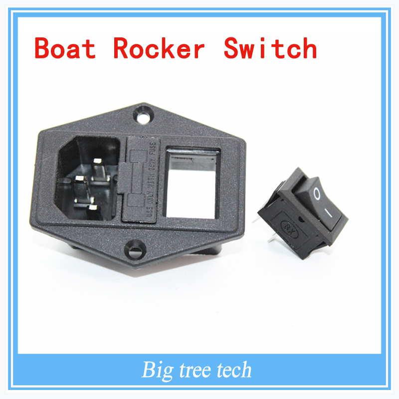 Hot 15A 250V Power switch AC power outlet with red triple Rocker Switch font b tripod